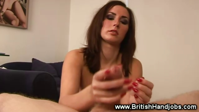 hawt brunette gets cumshot from very lucky guy