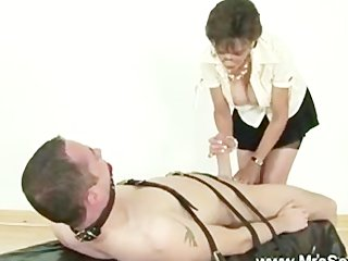 mistress jerking off servants hard pecker