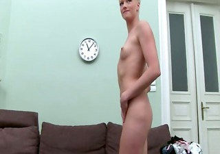 111yo horny blondie fucking on ottoman